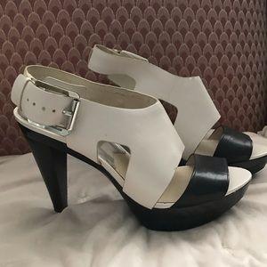 Michael Kors gently used leather heels size 10